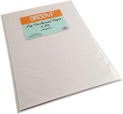 Amazon Groovi Parchment Paper A4 X 20 Sheets For Parchment