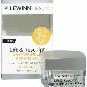Dr Lewinn par Kinerase Lift & Resculpt Anti-Rides-Crème Contour des Yeux, 0,5 oz