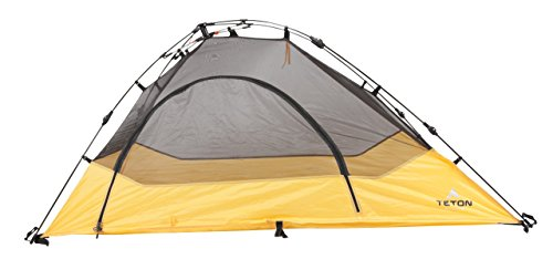 TETON Sports Outfitter Quick Tent; One-Person Pop-Up Tent; Instant Setup - Less Than 1 Min; Camping and Backpacking Tent; Easy Clip-On Rainfly Included (Renewed) (Backpacking Tent Teton)