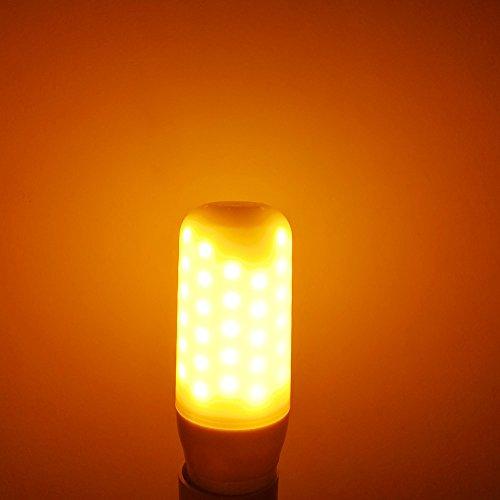 2 Pack 3 Modes LED Flame Light Bulb, E12 Candelabra Base, LED Flickering Bulb Candelabra light bulbs for Lantern Bar Party Christmas(Flame Bulb-E12)