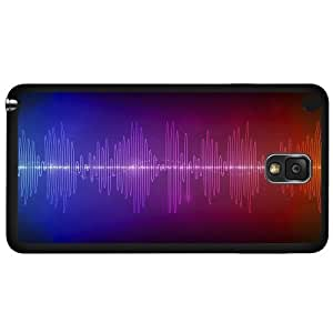 Colorful Music Sound Waves Hard Snap on Phone Case (Note 3 III)