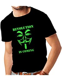T Shirts For Men The Revolution Is Coming - The Anonymous Hackers Mask, V For Vendetta
