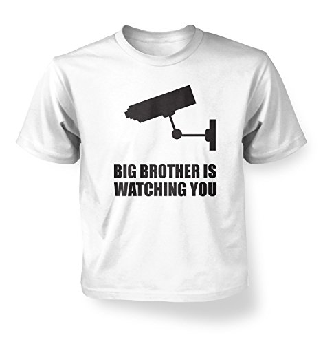 Price comparison product image Big Brother Is Watching You Kids T-shirt - White S (5-6)
