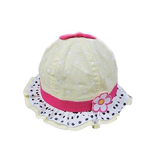 DDLBiz New Soft Cotton Baby Sun Hats Infant Visor Sunhat Children Girls Sun Summer Hat (Yellow)