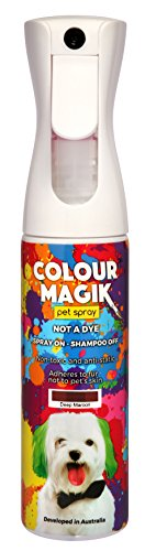 Petway Petcare Pet Paint Spray for Dogs 280 Ml – Color Safe Temporary Dog Hair Color Spray - Non Toxic, Eco Friendly, Propellant Free Dog Paint Deep Maroon -