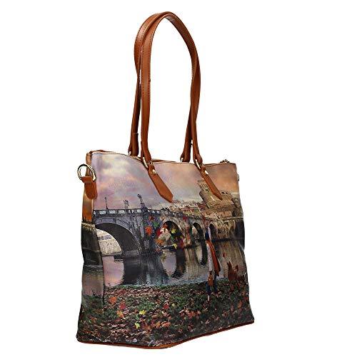 K Gold Roma Zip Shopping Joyful Bag Borsa L Wind 397 Tan wzXEq