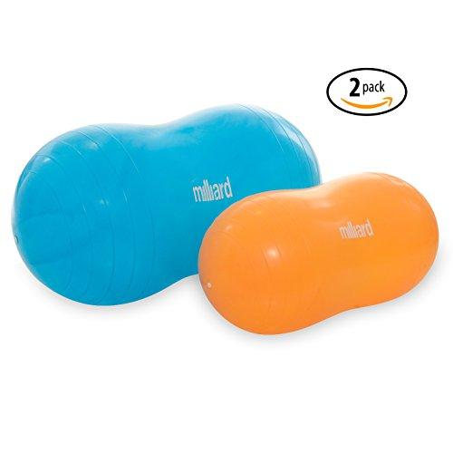 Milliard Anti-Burst Peanut Ball Variety Pack - Approximate Sizes: Orange 23x12