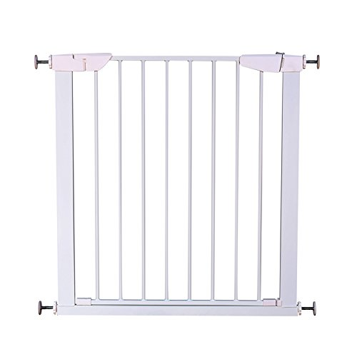 Cheap Fairy Baby Auto Close Metal Baby Gate,White,Fit Spaces between 25.59″ and 28.35″ Wide
