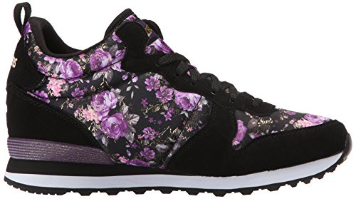 Skechers OG 85Hollywood Rose, Sneakers Basses Femme Noir - Schwarz (BKPR)