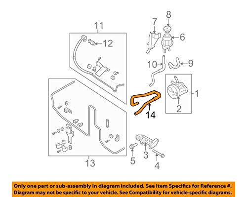 Nissan 49725-EA000, Power Steering Return Hose