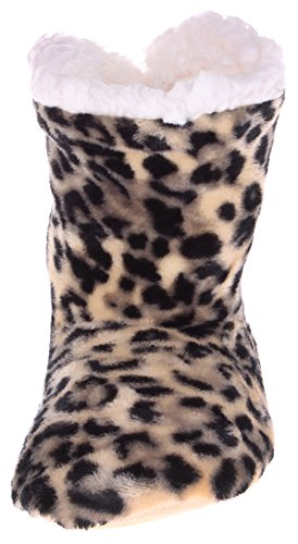 Women's Enimay Leopard Stars Shoes Relaxed Lounge Brown Boots House Polka hearts Dots Slipper dHwaHqg