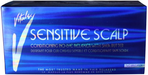Vitale Sensitive Scalp No-Lye Relaxer Kit 2-Count (Pack of 6) by VITALE
