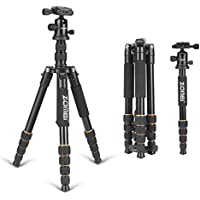 ZOMEI F678 Aluminum Portable Tripod with Ball Head Heavy Duty Lightweight Professional Compact Travel for Nikon Canon Sony All DSLR and Digital Camera