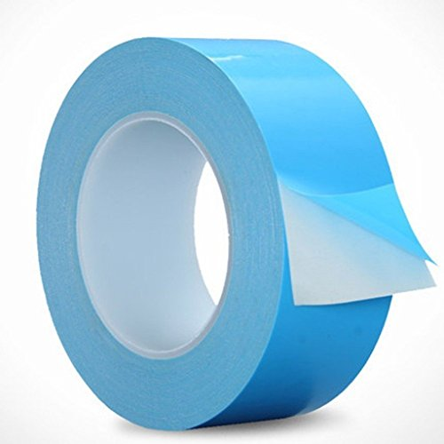 AIYUNNI 20mm x 25M x 0.25mm Thermal Adhesive Tape High performance Thermal Double Side Tapes Cooling Pad Apply to Heatsink LED IGBT IC Chip Computer CPU GPU Modules MOS tube SSD Drives by AIYUNNI