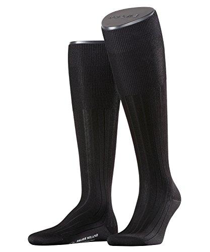 Falke Men's 1 Pair Milano 100% Cotton Knee High Socks 9-10 Black -