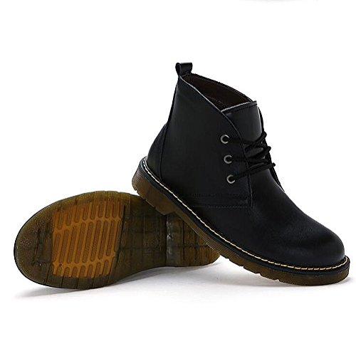 Herren freizeitschuhe kleid bergsteigen herbst outdoor [leise unten] stiefel rutschen schwarzbraun-schwarz Fußlänge=41EU