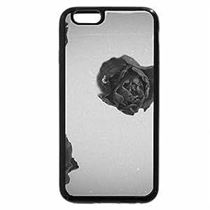 iPhone 6S Plus Case, iPhone 6 Plus Case (Black & White) - Red roses