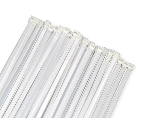 (Wide Large 120LBS Tensile 12 Inch Heavy Duty White Industrial Durable Cable Ties Garden Ties 50 Pack)