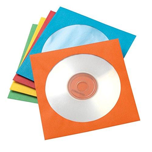Office Depot(R) Brand Color CD/DVD Envelopes, Assorted Colors, Pack of 50