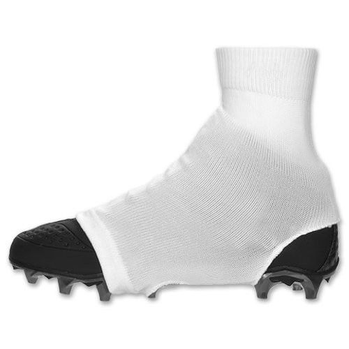 White Medium Razur Sports Cleat Cover Spat