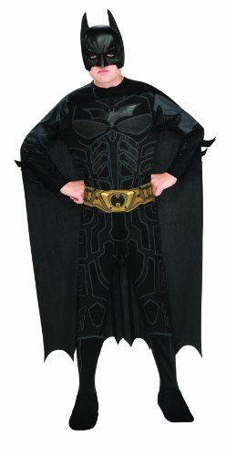 Knight Costumes Mask (Batman Dark Knight Rises Child's Batman Costume with Mask and Cape - Large)