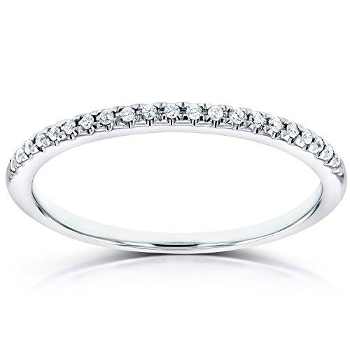 Diamond Petite Wedding Band in 14K White Gold