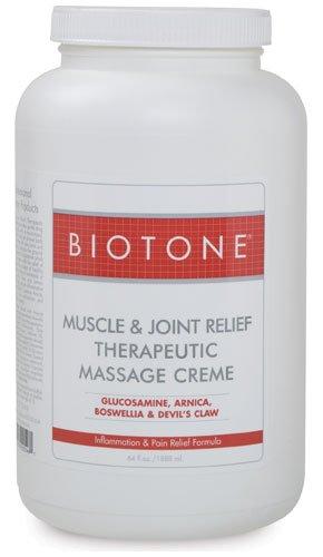BIOTONE Muscle & Joint Therapeutic Massage Creme - 1/2Gallon