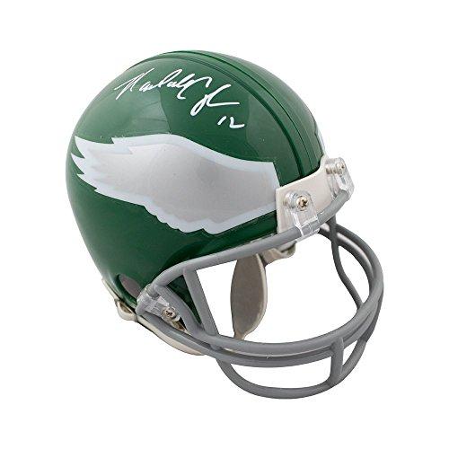 Randall Cunningham Autographed Philadelphia Eagles Mini Football Helmet JSA (Autographed Football Helmet)