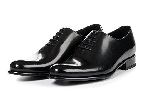 Men's Martin Wholecut Oxford Dress Shoes, Italian Calfskin Leather - Leather Nero Footwear