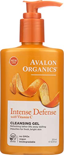 Avalon Organics Intense Defense Cleansing Gel, 8.5 oz. (Pack of 3)