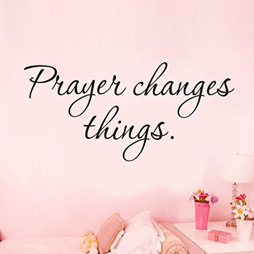Wall Stickers, Iuhan Prayer Changes Things Removable Art Vinyl Mural Home Room Decor Wall Stickers ()
