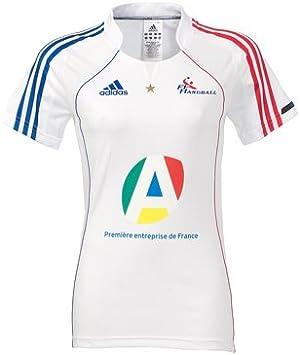 adidas U39256 - Camiseta de balonmano de la Selección francesa femenina (2011-2012, talla 42), color blanco: Amazon.es: Deportes y aire libre