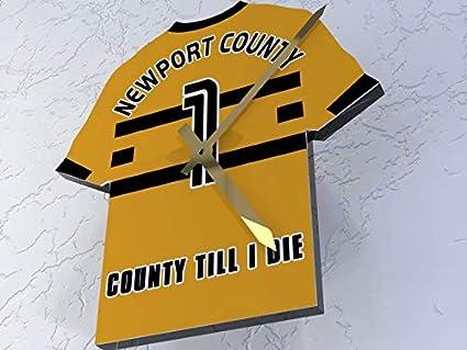 MyShirt123 Newport County FC Club de fútbol – Camiseta de fútbol Reloj – Cualquier Nombre y