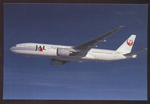 Japan Airlines JAL Boeing 777 Airplane Continental Postcard Star Jets