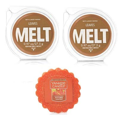Bath and Body Works 2 Leaves Fragrance Melt 0.97 Oz & Autumn Leaves Wax Melt 0.8 Oz. by Bath & Body Works