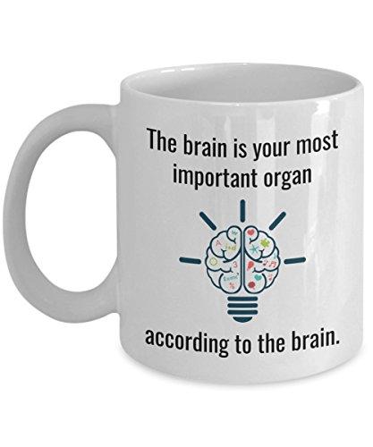Funny Neuroscientist Mug - The Brain is Your Most Important Organ - Joke Neuroscience Coffee Cup Gag Gift - Neurology Doctor Neurosurgeon Scientist