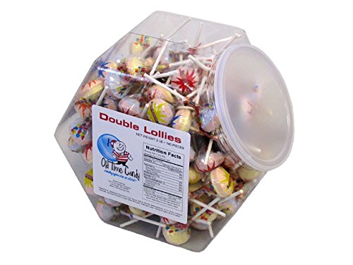 Double Lollies - 2.7 lb Plastic Tub (140 (Double Lollies Tub)