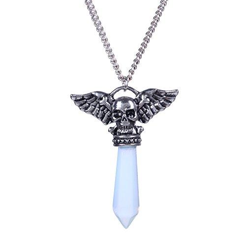 Bonnie Angels&Demons-Crystal Pendant Necklace Six Style (Transparent -