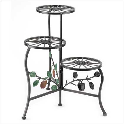 Gifts & Decor Country Apple Plant Stand Shelf Holds 3-Flower Pot by Gifts & Decor