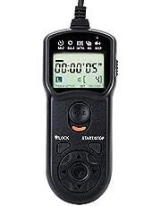 JJC Intervalometer Timer Remote Control Shutter Release for Sony A6000 A6100 A5100 A6600 A6500 A6400 A6300 A1 A7 A7II A7III A7R II III A7RIV A7S III A7SII A9 ZV-1 RX100 VII VI V VA IV RX10 IV & More