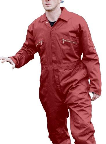 Dickies Redhawk con cremallera para Regular/trabajo para hombre Rosso