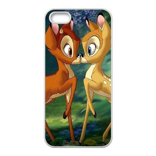 Bambi coque iPhone 5 5S Housse Blanc téléphone portable couverture de cas coque EBDOBCKCO10593