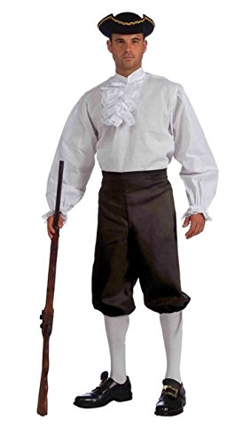 Forum Unisex Adult Black Pirate Renaissance Colonial Knickers - XL (Colonial Pirate Costume)