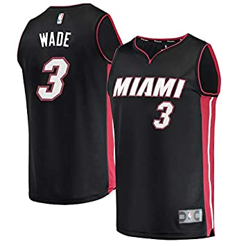 NBA Miami Wade 3 Fan Men Jersey Hombres (Negro, L)