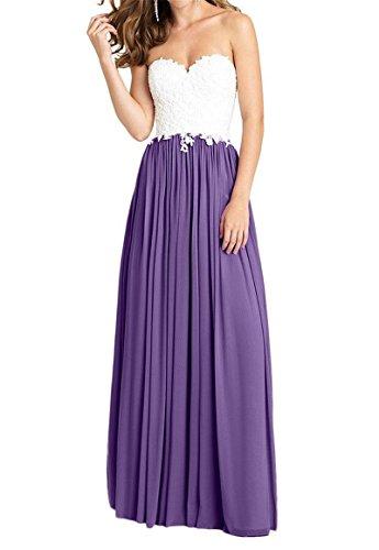AngelDragon damigella onore abito d' sera Prom Maxi Grape applique Sweetheart Cheap da vestito da 1wrf1Aq