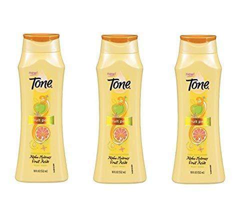 Tone Citrus Peel Exfoliating Body Wash, With Alpha-Hydroxy Fruit Acids, 16 Fl. Oz. (3 pack)