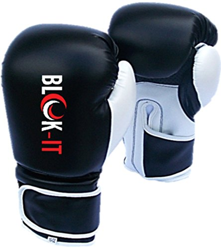 Boxing Gloves by Blok-IT - Pro Boxing Gloves With The Easy On/Easy Off Velcro Strap