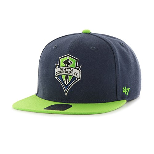 MLS Seattle Sounders Fc No Shot Two-Tone Captain Hat, One Size, Timber Blue - Sounders Gear