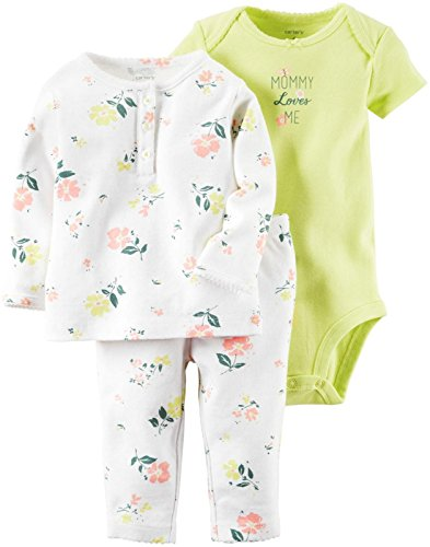 De Carter Baby Girls '3 Pc juegos 126 G316,  Blanco, 3 Meses