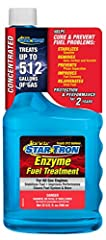 Star Tron Enzyme Fuel Treatment is a multi-functional fuel additive which uses a unique enzyme technology that allows all engines to start easily and run smoothly, even after sitting idle for months. Star Tron eliminates and prevents fuel pro...